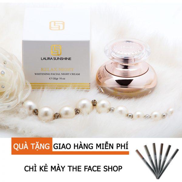 Dưỡng Trắng Da, Ngăn Ngừa Lão Hóa Relax Night -Mỹ phẩm Laura Sunshine Nhật Kim Anh