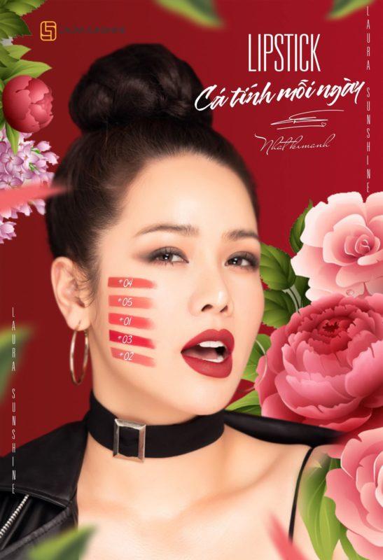 Bảng màu son Nhật Kim Anh
