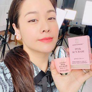 Kem Chống Nắng Kiêm Kem Lót Nâng Tone Da Laura Sunshine Pink Sun Base Spf 50+ Pa++++ Nhật Kim Anh